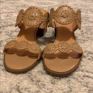 Tan Jack Rogers sandals, size 7